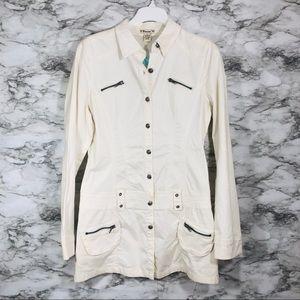 Forever 21 White Utility Jacket Size Large NWT